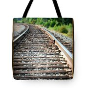 Down The Tracks Tote Bag