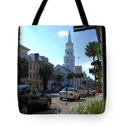 Down Town Charleston Tote Bag