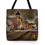 Down Town Lexington Va Tote Bag by Todd Hostetter
