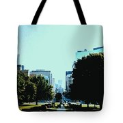Down University Avenue Tote Bag