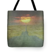 Downhill Sunset Tote Bag