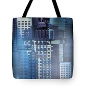 Downtown Abstract - Blue Mist Tote Bag