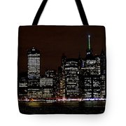 Downtown At Night Tote Bag