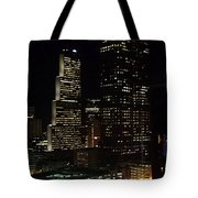 Downtown Atlanta Lights Tote Bag