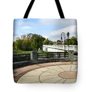 Downtown Binghamton Ny Confluence Park Tote Bag