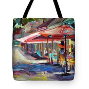 Downtown Bistro Tote Bag