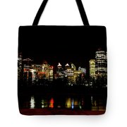Downtown Calgary At Night Tote Bag