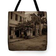 Vintage Downtown Charleston South Carolina Tote Bag