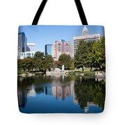 Downtown Charlotte North Carolina From Marshall Park Tote Bag