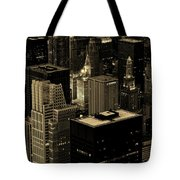 Downtown Chicago At Sunset Tote Bag