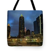 Downtown Cleveland At Dusk Tote Bag