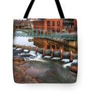 Downtown Greenville On The River Winter Tote Bag
