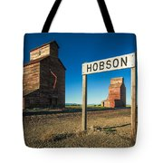 Downtown Hobson, Montana Tote Bag