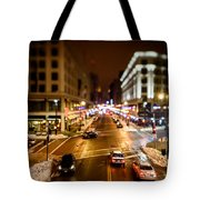 Downtown In The Itty-bitty City Tote Bag