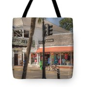 Downtown Key West Tote Bag