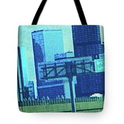 Downtown Left 3-4 Mile Tote Bag