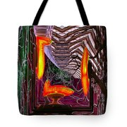 Downtown Light Warp Tote Bag