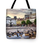 Downtown Lisbon Tote Bag by Carlos Caetano