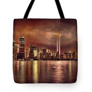 Downtown Manhattan September Eleventh Tote Bag by Chris Lord