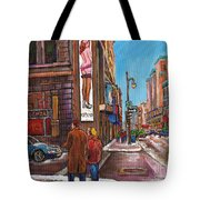 Downtown Montreal Streetscene At La Senza Tote Bag