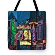 Downtown Nashville At Dusk Tote Bag