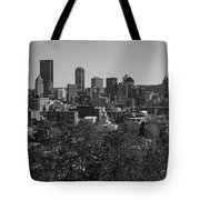 Downtown Pittsburgh In Black And White Tote Bag
