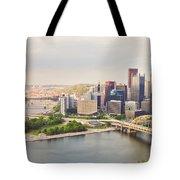 Downtown Pittsburgh Pennsylvania Tote Bag