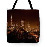 Downtown San Francisco At Night Tote Bag