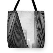 Downtown San Francisco Street View - Black And White 2 Tote Bag