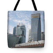 Downtown Singapore Tote Bag