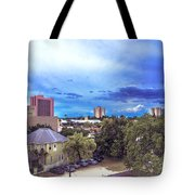 Downtown Skies Tote Bag