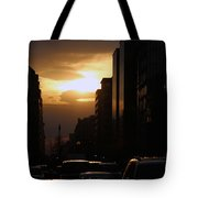 Downtown Sunset From Parking Lot Tote Bag