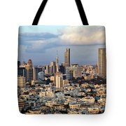 Downtown Tel-aviv Skyline Tote Bag