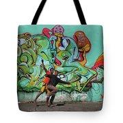 Downtown Walkers Tote Bag