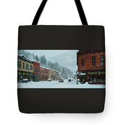 Downtown Wallace In Winter 2017 Tote Bag