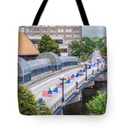 Downtown Waterloo Iowa Bridge Tote Bag