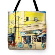 Downtown Wrightsville Beach Tote Bag