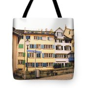Downtown Zurich Switzerland Tote Bag