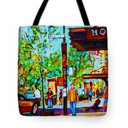 Downtowns Popping Tote Bag