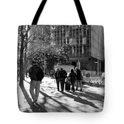 Downtownscape - Black And White Tote Bag