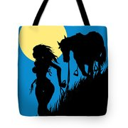 Downwind Evening Yellow Moon Tote Bag