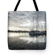 Downy Soft Clouds At The Marina Tote Bag