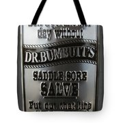 Dr. Bumbutt's Tote Bag