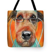 Dr. Dog Tote Bag by Michelle Hayden-Marsan