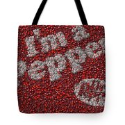 Dr. Pepper Bottle Cap Mosaic Tote Bag by Paul Van Scott