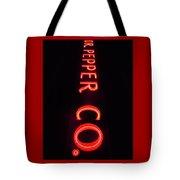 Dr. Pepper Neon Tote Bag