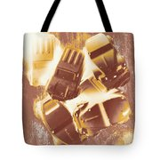 Drag Racing Mob Tote Bag