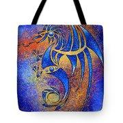 Dragissous V1 - Blue Dragon Tote Bag