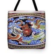 Dragon And Bird Tote Bag