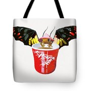 Dragon And Chinese Cup Tote Bag